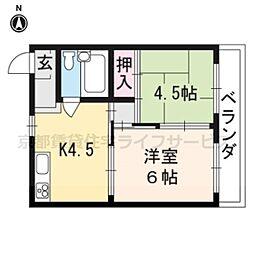 マンション花川[40B号室]の間取り