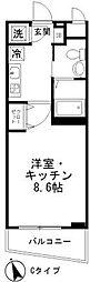 ファンファーレ調布[4階]の間取り