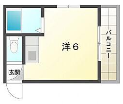 ヴィラナリー紅屋[4階]の間取り