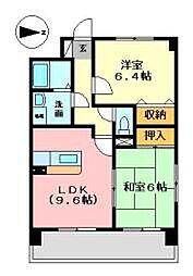 兵庫県姫路市網干区高田の賃貸マンションの間取り