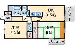 NEST刀根山[1階]の間取り
