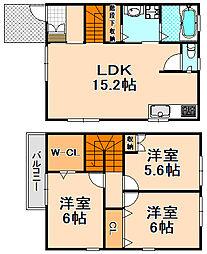 [テラスハウス] 兵庫県伊丹市野間北2丁目 の賃貸【/】の間取り