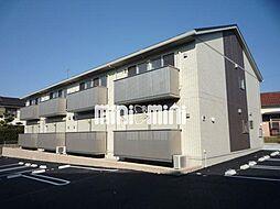 愛知県岡崎市上地町字西田の賃貸アパートの外観