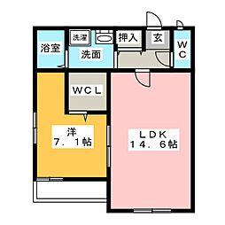 棒屋第一舞阪ハイツ[2階]の間取り