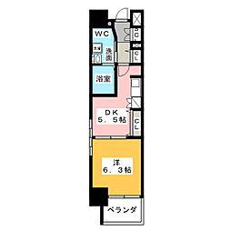 エステムプラザ名古屋駅前プライムタワー[12階]の間取り