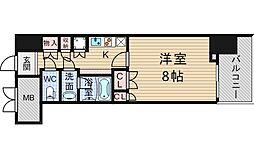 アンビエンテ四ツ橋[10階]の間取り
