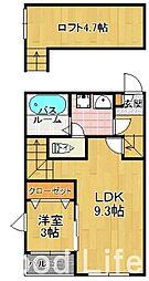 パサージュ 箱崎[1階]の間取り