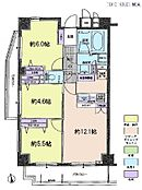 3LDK・専有面積61.35平米・バルコニー面積12.55平米