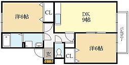 セジュール妙楽[2階]の間取り