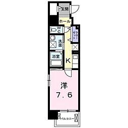 京阪本線 滝井駅 徒歩2分の賃貸マンション 7階1Kの間取り