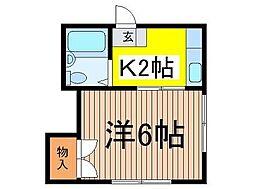 コーポ宮崎[2階]の間取り