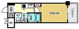 フレアコート梅田[2階]の間取り