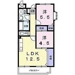 京阪本線 守口市駅 徒歩25分の賃貸マンション 3階2LDKの間取り