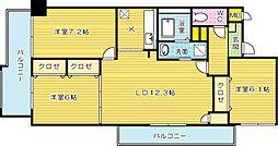 福岡県北九州市門司区東本町2丁目の賃貸マンションの間取り