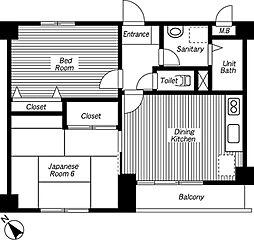 第3住光マンション[3階]の間取り
