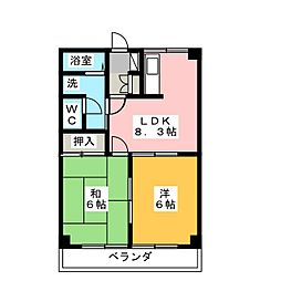 メゾンファイン[1階]の間取り