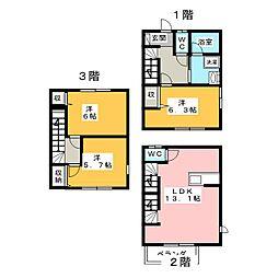 [テラスハウス] 静岡県静岡市葵区平和3丁目 の賃貸【/】の間取り