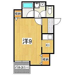 ラモーダ堀川[306号室]の間取り