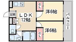 Osaka Metro御堂筋線 新大阪駅 徒歩18分の賃貸マンション 5階2LDKの間取り
