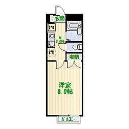 リリックコート鎌倉[0201号室]の間取り