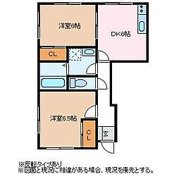 長野県松本市大字松原の賃貸マンションの間取り