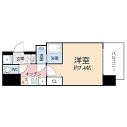 エグゼ堺筋本町 6階1Kの間取り