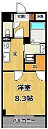 仮称)LOCUS1 南武庫之荘1丁目新築[403号室]の間取り