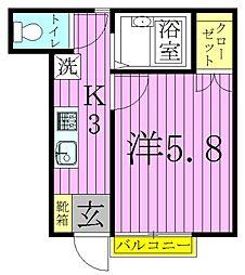 ヒカリオ[1階]の間取り