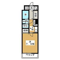 岡杉ビル[4階]の間取り