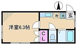 高柳ハイツ[2階]の間取り
