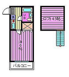コーポ和[2階]の間取り