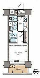 東京メトロ日比谷線 仲御徒町駅 徒歩6分の賃貸マンション 12階1Kの間取り