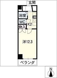 星ヶ丘GODIVA[3階]の間取り