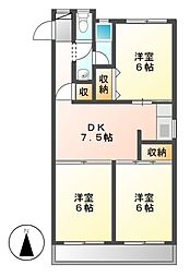 No.1フォレスト[4階]の間取り