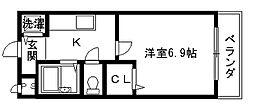 リバーサイド金岡II番館[3階]の間取り