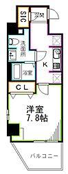 JR総武線 荻窪駅 徒歩14分の賃貸マンション 2階1Kの間取り