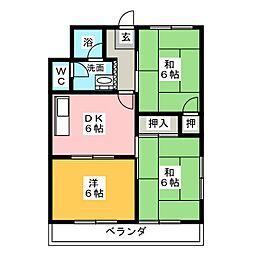 メゾン町田[3階]の間取り
