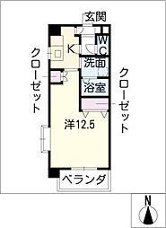 リオン高見[3階]の間取り