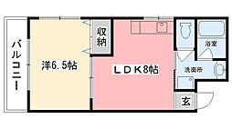 ベル甲子園[205号室]の間取り
