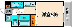 コンフォート生江 4階1Kの間取り