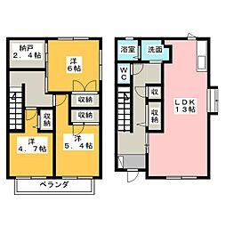 [テラスハウス] 静岡県袋井市愛野東1丁目 の賃貸【/】の間取り