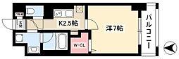 グランツェ名駅太閤通 8階1Kの間取り