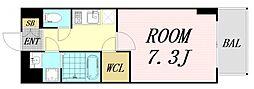 おおさか東線 南吹田駅 徒歩14分の賃貸マンション 10階1Kの間取り
