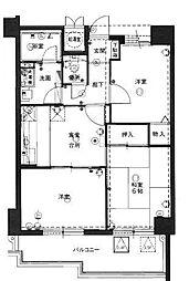 ロワールマンション小笹[5階]の間取り