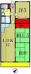 長谷川レジデンス[2階]の間取り