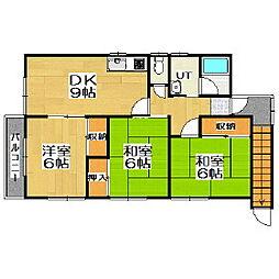 母恋南町3丁目アパート[2階]の間取り