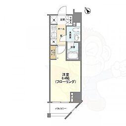 Casa Splendido 麻布仙台坂 10階1Kの間取り