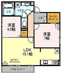ディールーム苅田[2階]の間取り