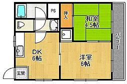 アルファマンション[3階]の間取り