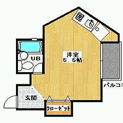 中野マンション[301号室]の間取り